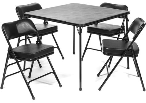 Folding Card Table And Chairs 5 Pc Set by 5pc Xl Series Folding Card Table And Ultra Thick Padded