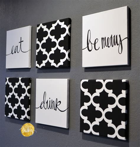 Wall Decor Black And White Moroccan 6 Pack Wall
