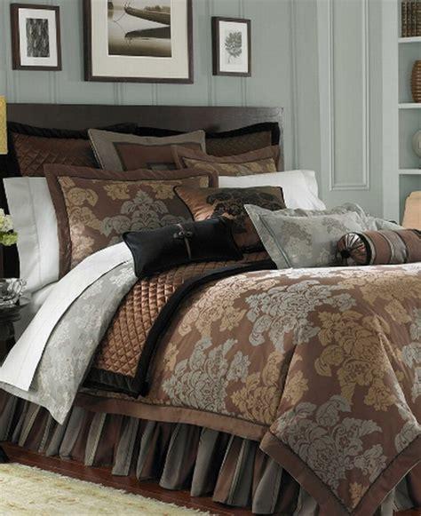 copper comforter new waterford linens keegan queen comforter cognac slate