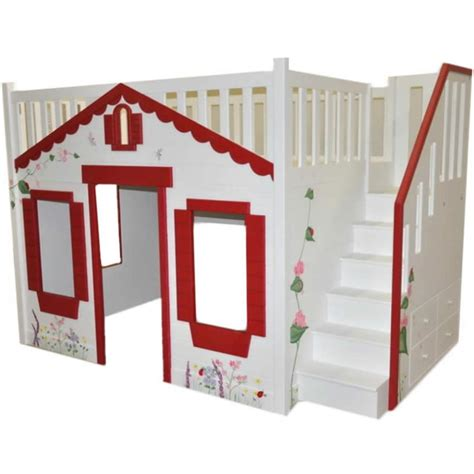 cottage loft bed storybook cottage loft bed pink