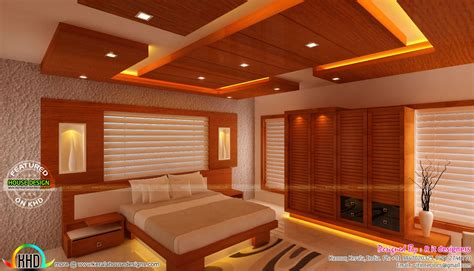 wooden finish interior designs kerala home design