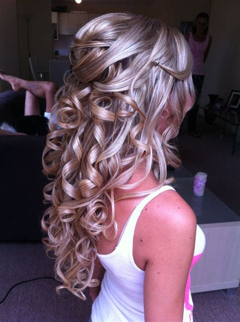 half updo bridal hairstyles by poshe spiral curls updo and hairstyles