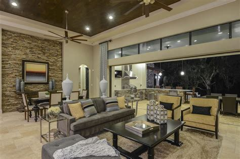 tuscan inspired great room  contemporary open hgtv