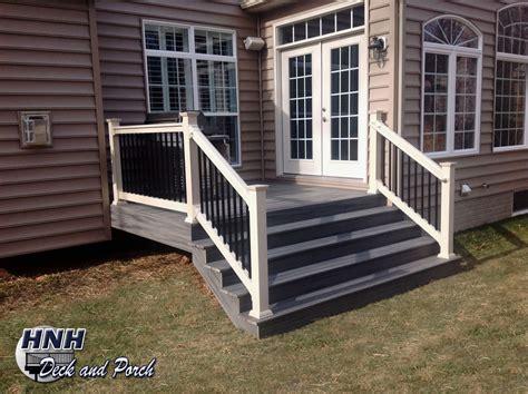 deck steps gallery hnh deck  porch llc