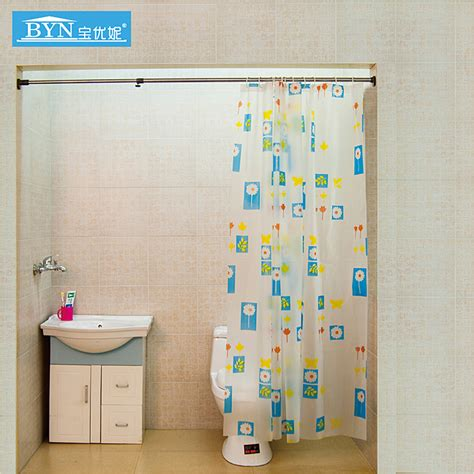 retractable shower curtain easy goods bathroom shower curtain rod retractable pole