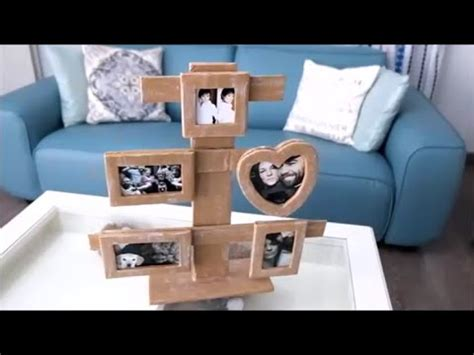 how to make collage frame at home how to make a cardboard photo frame home diy
