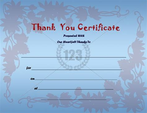 thank you certificate templates best photos of thank you award certificate templates