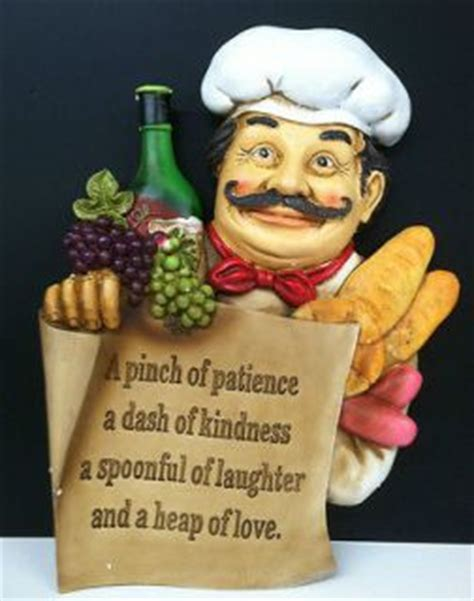 Chef Kitchen Decor Items by Chef Bon Appetit Hanging Kitchen Wall