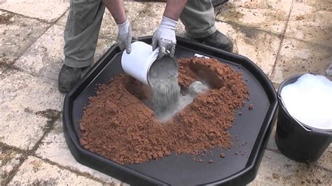 Concrete Block Home Plans by How To Mix Cement By Hand Youtube