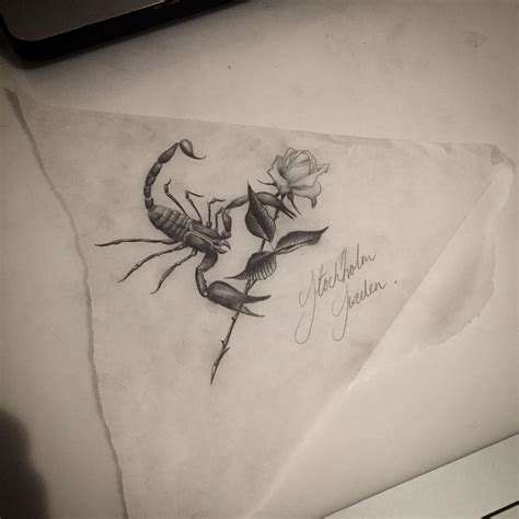 Scorpio Rose Tattoo Design Best Tattoo Ideas Gallery Scorpio Zodiac Tattoos Designs