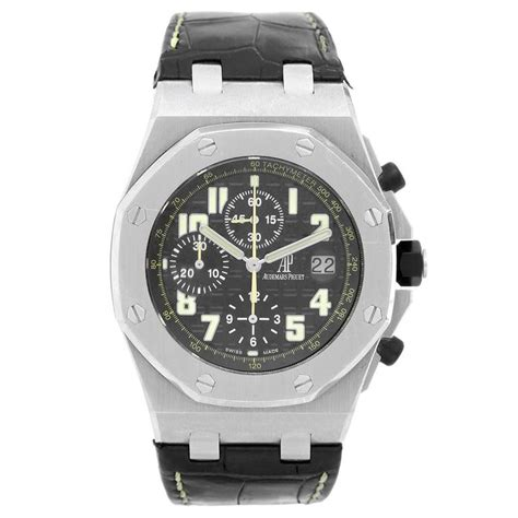 Audemars Piguet Royal Oak Offshore Chronograph 1 1 Best Edition White audemars piguet stainless steel royal oak offshore worth avenue wristwatch for sale at 1stdibs