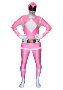 Power rangers pink ranger morphsuit close up
