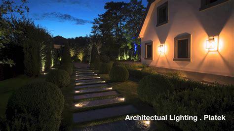 illuminazione esterna a led illuminazione esterna di villa privata platek light
