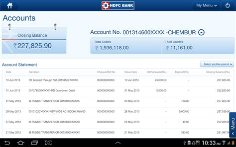 hdfc bank statement hdfc bank personal loan status check cooking with