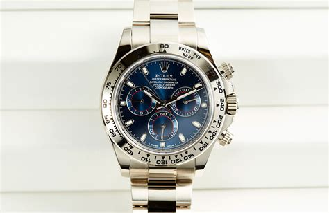 Rolex Daytona Blue Ultimate Clone 11 on blue heaven the rolex daytona in white gold with blue ref 116509 plus pics