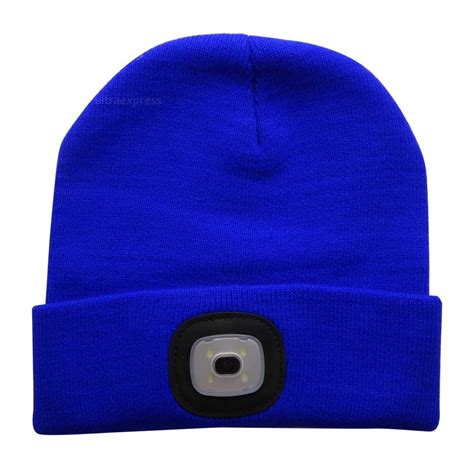 Knit Hat With Led Lights by 4 Led Light Headl Cap Knit Beanie Hat For Cing Running Fishing