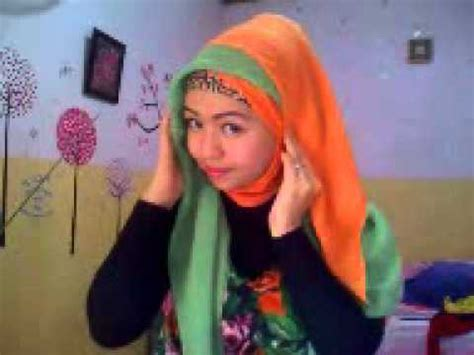 tutorial hijab dua warna tutorial jilbab paris dua warna by riska 4 youtube