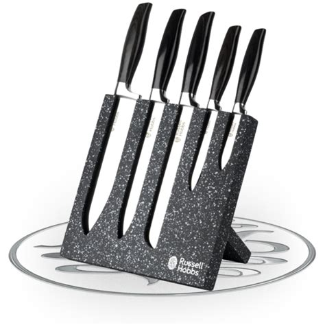 Pisau Set Russel Hobbs hobbs 5 granite knife block set