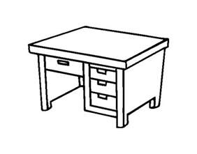 desk pictures writing desk coloring page coloringcrew