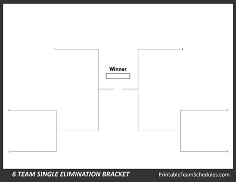 printable 4 name baby girl tournament bracket printable 6 team bracket single elimination tournament