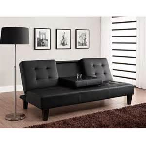 convertible futon sofa bed with drink holder