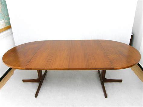 tavolo allungabile rotondo tavolo rotondo allungabile in teak danimarca anni 60 in