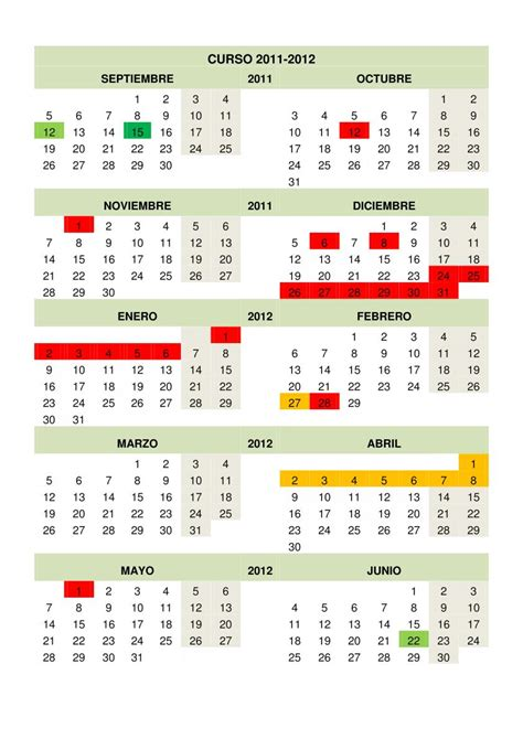 novedades calendario escolar 2012 13
