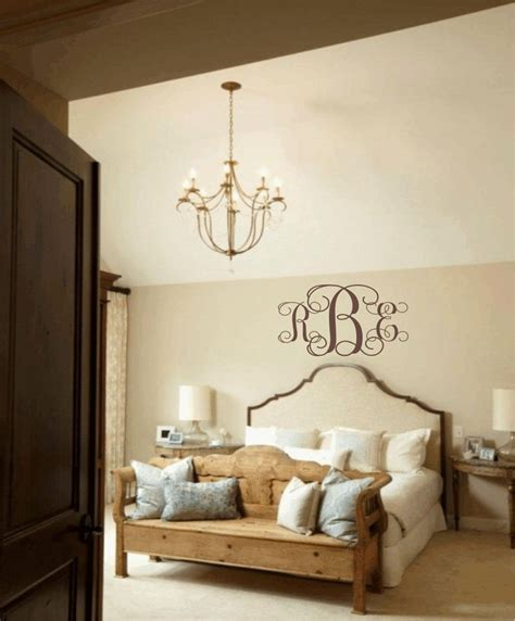 monogram decorations for bedroom master bedroom wall decal personalized initial monogram