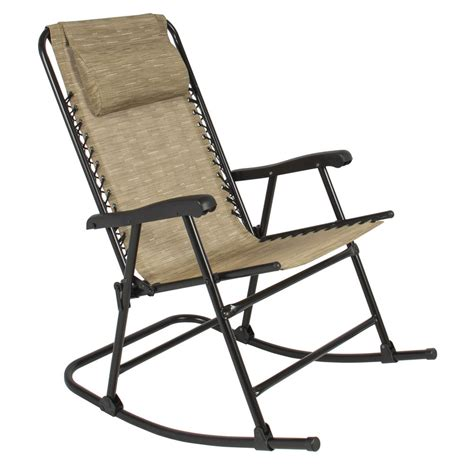 Rocking Garden Chair Best Choice Products Folding Rocking Chair Rocker Outdoor Patio Furniture Beige Ebay