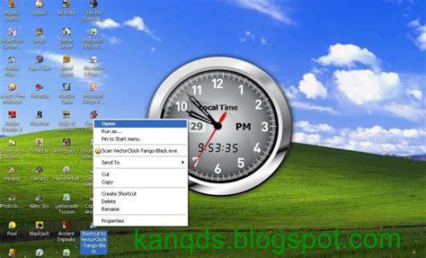 Jam Digital Dekstop cara memasang aplikasi jam analog di desktop komputer