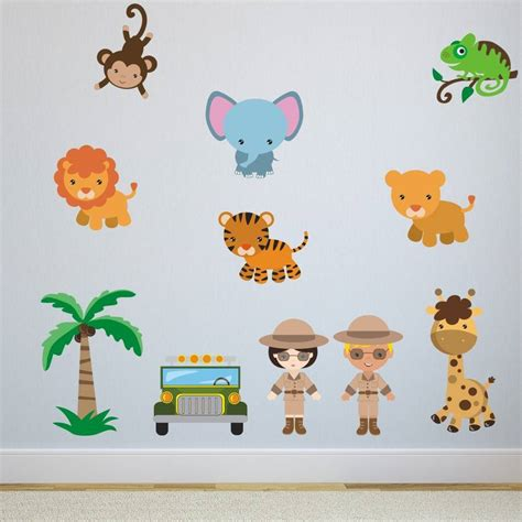 safari animal wall stickers safari animals wall stickers by mirrorin notonthehighstreet