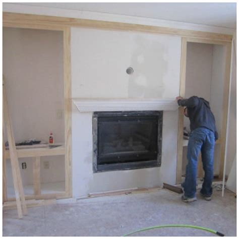 entertainment center with built in fireplace diy how to build a built in entertainment center with