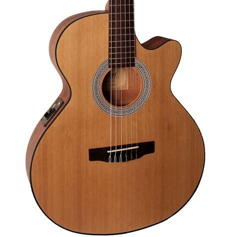 New Cort Gitar Klasik Elektrik Cec 1 Op cec1 op cort elektro klasik gitar open pore ladin kapak