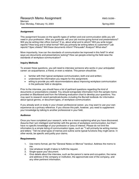 tax research memo template 10 best images of research memo format memo