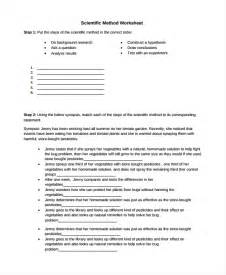 scientific method template sle scientific method worksheet 8 free documents