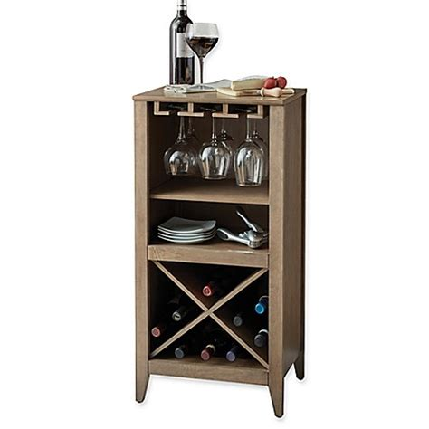bed bath and beyond bar buy long valley no tools wine bar in grey from bed bath
