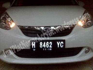Pembuatan Plat Nomor Acrylic cover plat nomor acrylic mobil jeep 0856 4355 2499