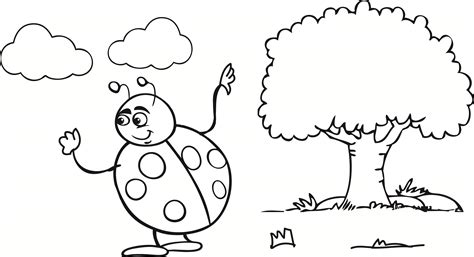coloring pages of lady bird lady bird coloring pages