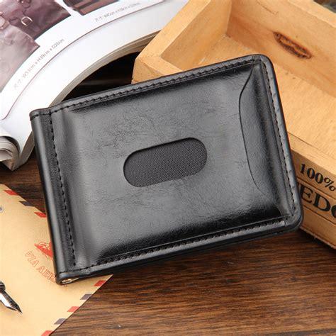 Baellerry Dompet Klasik Pria Awet dompet kartu dengan klip uang kertas berbahan kulit
