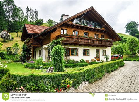 17 small traditional house design in tirol austria wonderful alpine classic house stock photo image 45274484