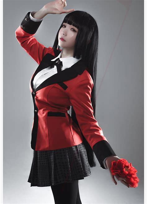 kpop themed costume anime kakegurui yumeko jabami cosplay new costumes school