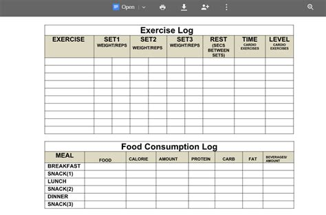 weight loss template for google docs weight loss articles