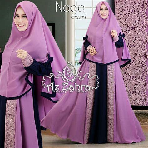 Gamis Jersey Umbrella Baju Gamis Busui Busana Muslim Maxi Dress baju gamis syar i terbaru nada azzahra