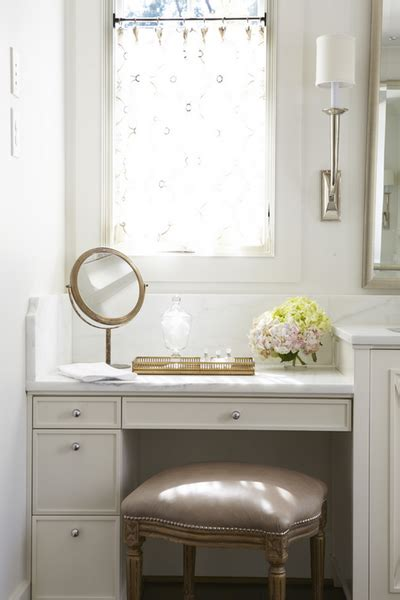 makeup vanity traditional bathroom jan ware designs