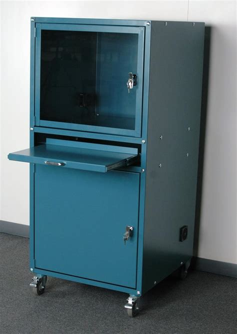 Custom Pc Cabinet by Stackbin Computer Stations Enclosed Computer Cabinet