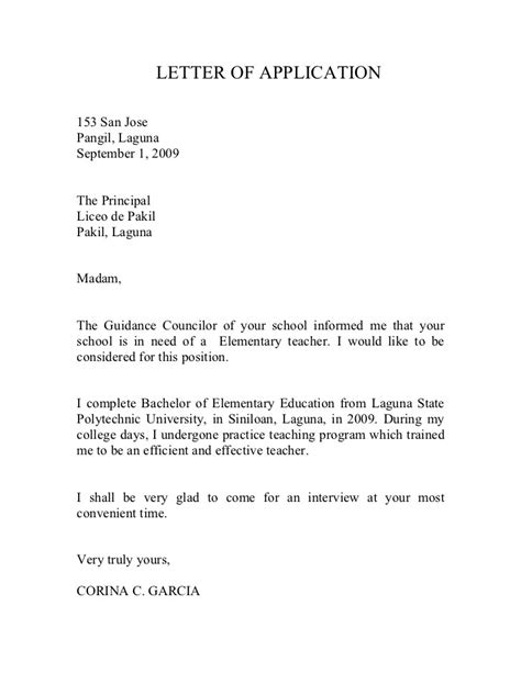 Application Letter For Fresh Graduate Of Education Fresh Graduate Resume Format Philippines
