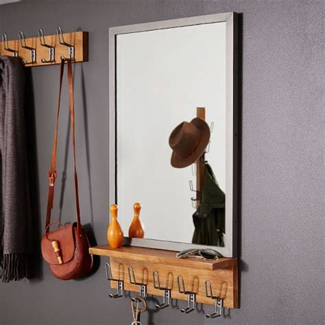 entryway mirror industrial entryway mirror west elm