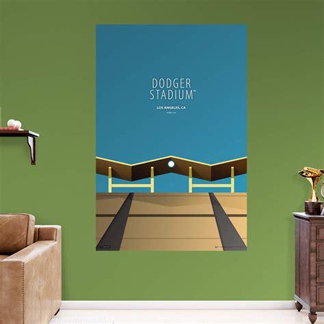 dodger stadium minimalist art mural wall decal shop fathead  los angeles dodgers decor