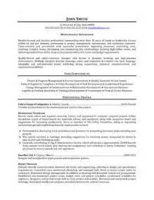 Maintenance Manager Resume Samples maintenance supervisor resume template premium resume samples