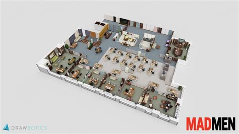 Ice Cream Shop Floor Plan Cool 3d Tv Show Floor Plans Of Your Favorite Tv Offices